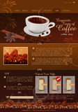 Vector template site coffee shop Stock Photography