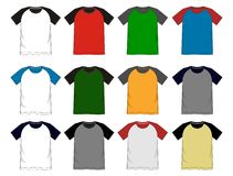 Vector template t shirt raglan Royalty Free Stock Images