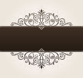 Vector template for text background. vintage frame Royalty Free Stock Image