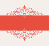 Vector template for text. vintage frame decorated antique orname Royalty Free Stock Images