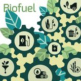 Vector template on the theme of biofuels, environmentally friendly fuel, natural energy vector illustration