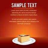 Vector Template with Tiramisu Fancy Cake Stock Images