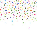 Vector template of vibrant colorful confetti Stock Image