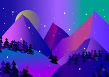 vector template web design mountain colorful landascape royalty free illustration