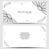 Vector template. For wedding invitation, thank you card, save the date cards vector illustration