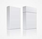 Vector template white box  on a white background Stock Photography