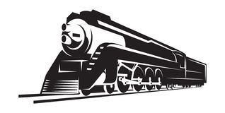 Free Vector Template With A Locomotive, Vintage Train Stock Photography - 156784192