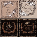 Vector templates or cards in vintage style ideal for invitation Stock Photography