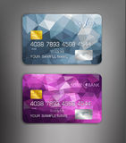 Vector templates credit cards with abstract pattern Royalty Free Stock Photo