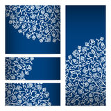 Vector templates floral pattern graphic designs. Birthday or invitation card Royalty Free Stock Photo