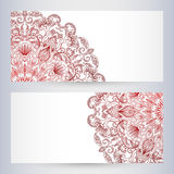 Vector templates floral pattern graphic designs. Birthday or invitation card Stock Photo