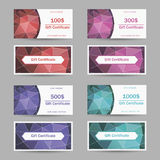Vector templates gift certificate royalty free illustration