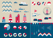 Vector templates for info graphics in nordic style Royalty Free Stock Images