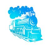 Vector templates with a locomotive, vintage train, logotype, illustration. Royalty Free Stock Photography
