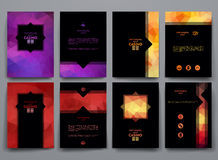 Vector templates with polygonal backgrounds Royalty Free Stock Photography