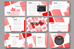 Vector templates for presentation slides. National Flag of Canada Day. Abstract dotted background Stock Photos