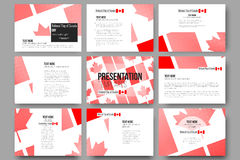 Vector templates for presentation slides. National Royalty Free Stock Photography