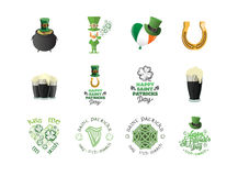 Vector templates related to St Patricks day celebration Stock Images