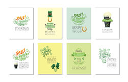 Vector templates related to St Patricks day celebration Royalty Free Stock Photo