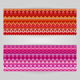 Vector templates set with art ornamental theme Stock Images