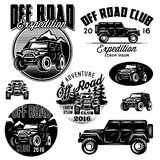 Vector templates for SUVs off-road sport club logos Stock Photo