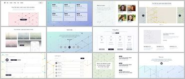 Vector templates for website design, minimal presentations, portfolio. UI, UX, GUI. Line art pattern with connecting. Lines. Abstract geometric graphic vector illustration