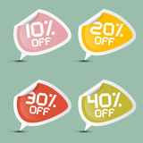 Vector Ten - Twenty, Thirty and Forty Percent Off Royalty Free Stock Image