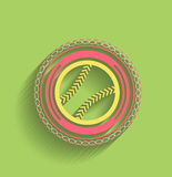 Vector tennis ball icon flat modern icon Royalty Free Stock Image
