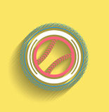 Vector tennis ball icon flat modern icon Royalty Free Stock Photos