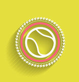 Vector tennis ball icon flat modern icon Stock Photos