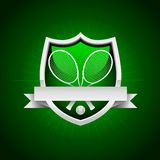 Vector Tennis Emblem Royalty Free Stock Photography