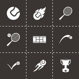 Vector tennis icon set Royalty Free Stock Photos