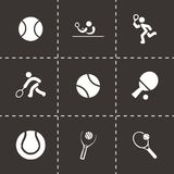 Vector tennis icon set Royalty Free Stock Image