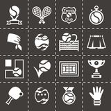 Vector Tennis icon set Royalty Free Stock Photography
