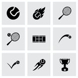 Vector tennis icon set Royalty Free Stock Photo