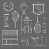 Vector tennis icons Stock Image
