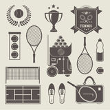 Vector tennis icons Stock Photography