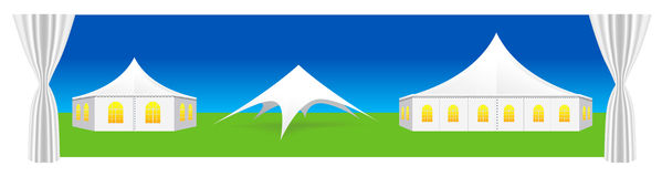 Vector tent illustration Royalty Free Stock Images