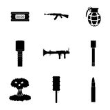 Vector terrorism icons set Stock Photo