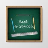 Vector terug naar schoolachtergrond Royalty-vrije Stock Afbeelding