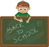 Vector terug naar schoolillustratie Royalty-vrije Stock Afbeeldingen