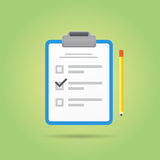 Vector Test or Exam Icon. Royalty Free Stock Photo