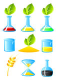 Vector test tubes. Vector test tubes isolated on white. EPS available vector illustration