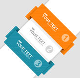 Vector text boxes, infographics options banner stock photos