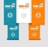 Vector text boxes, infographics options banner Stock Image