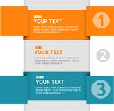 Vector text boxes, infographics options banner Stock Photography
