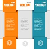 Vector text boxes, infographics options banner Royalty Free Stock Photo