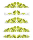 Vector text dividers with Chinese cabbage in origami style Stock Photo