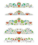 Vector text dividers with multicolor set wild tourism Royalty Free Stock Photo