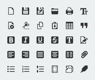 Vector text editor icons set Royalty Free Stock Photography